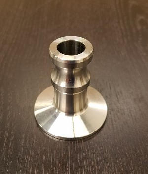"1 1/2 ""Sanitary Tri-Clover X Cam-lock adapter"