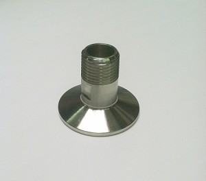 "Sanitary clamp x Male 1/2"" NPT threads"